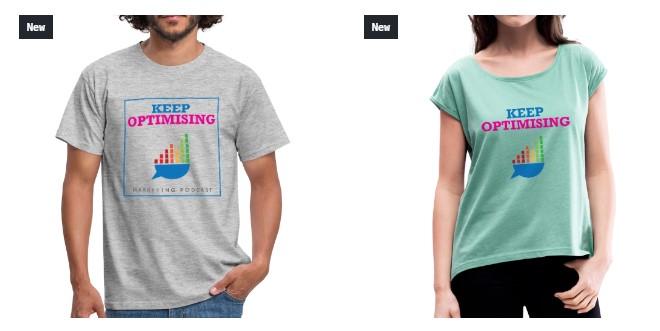 Keep Optimising T Shirts