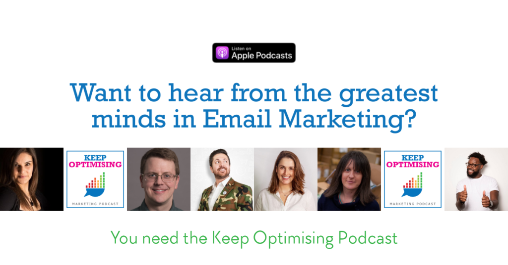Email Marketing on the Keep Optimising Podcast