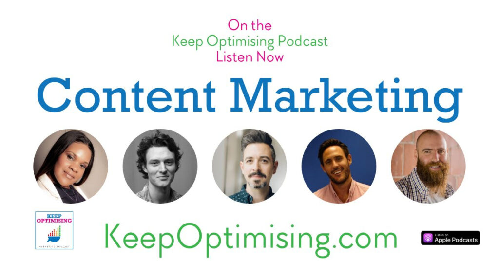 content marketing on the keep optimising podcast