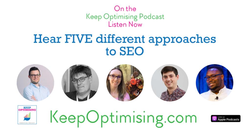seo on keep optimising podcast