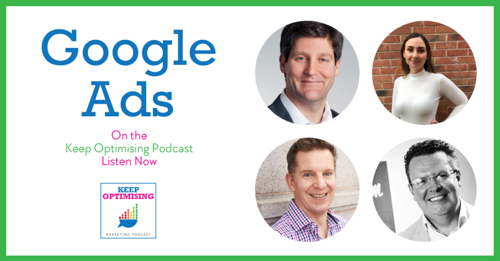google ads on keep optimising podcast